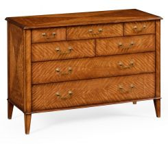 Jonathan Charles Large Chest of Drawers Satinwood