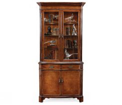 Jonathan Charles China Cabinet Victorian in Walnut