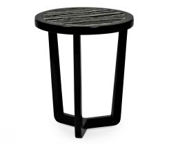 Jonathan Charles Round Side Table Oriental with Marble Top