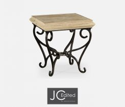 Jonathan Charles Square Side Table Wrought Iron