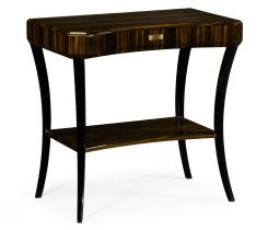 Jonathan Charles Side Table with Drawer Art Deco Lustre