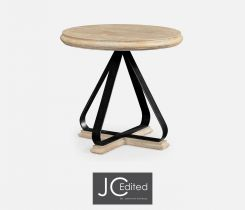 Jonathan Charles Round Side Table Wrought Iron