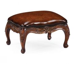 Jonathan Charles Small Footstool French Provincial in Walnut