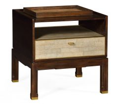 Jonathan Charles Bedside Table Timberwolf with Tray