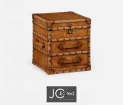 Jonathan Charles Small Travel Trunk Box with Drawers