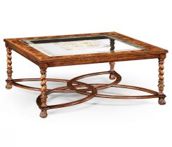 Jonathan Charles Large Square Coffee Table Oyster - Eglomise Top