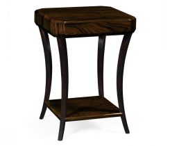 Jonathan Charles Square Small Side Table Art Deco Lustre