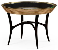 Jonathan Charles Round Centre Table Modernist Stepped
