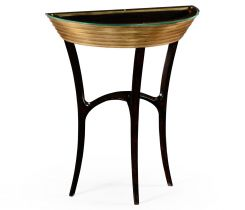 Jonathan Charles Demilune Console Table Modernist Stepped