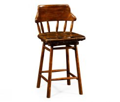 Jonathan Charles Stool Country Style in Leather