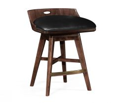 Jonathan Charles Stool Natural in Leather