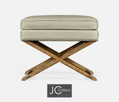 Jonathan Charles Stool with Brown Chestnut X-Leg