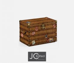 Jonathan Charles Storage Travel Trunk with Map Inlay
