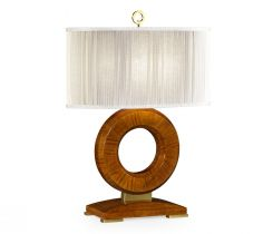 Jonathan Charles Table Lamp Porthole in Hyedua