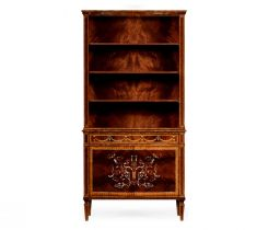 Jonathan Charles Tall Bookcase with Cupboard Renaissance