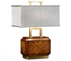 Jonathan Charles Table Lamp Chinese Tea Caddy in Zebrano