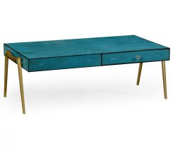 Jonathan Charles Coffee Table with Drawers French 1930s