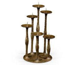 Jonathan Charles Six Branch Candlestick Industrial