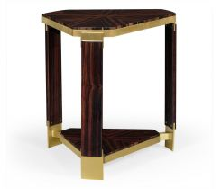 Jonathan Charles Triangle Side Table Lustre