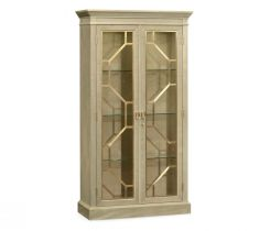 Jonathan Charles Tall Two-Door Display Cabinet Art Deco