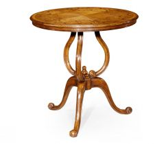 Jonathan Charles Round Lamp Table Marquetry