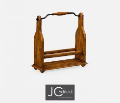 Jonathan Charles Wine Bottle Holder Rustic