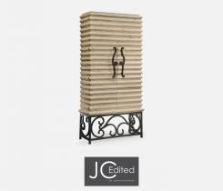 Jonathan Charles Wine Cabinet with Wrought Iron Base